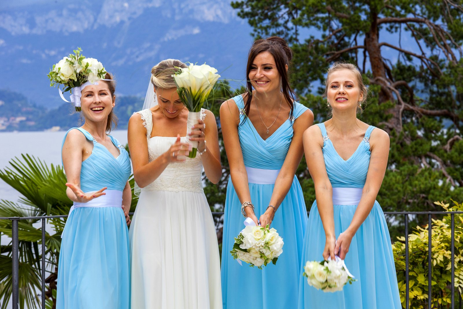 tiffany color wedding lake como
