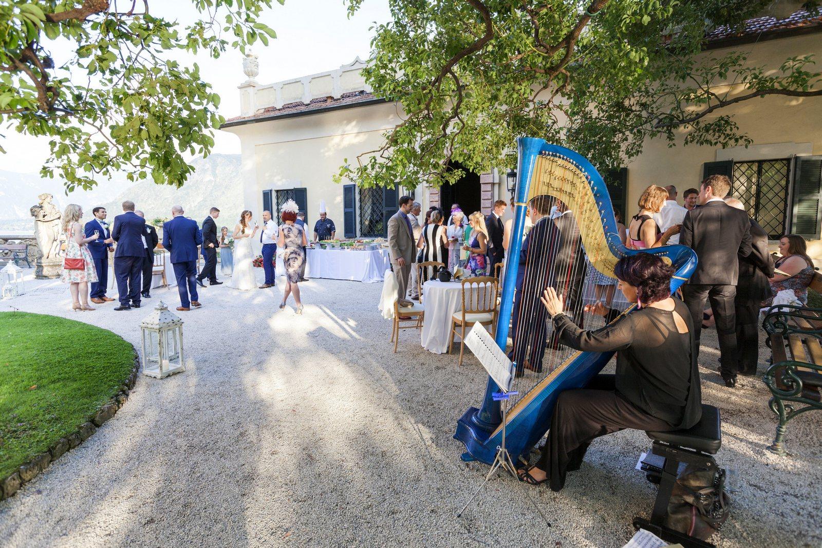 wedding aperitif in villa balbianello