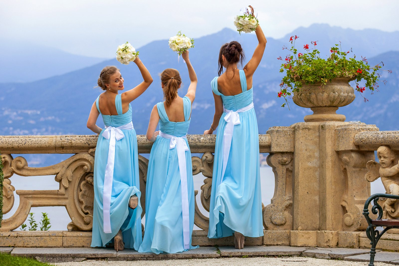 tiffany theme wedding villa balbianello