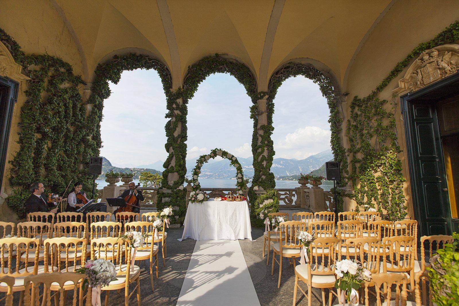 Ceremony in Villa Balbianello