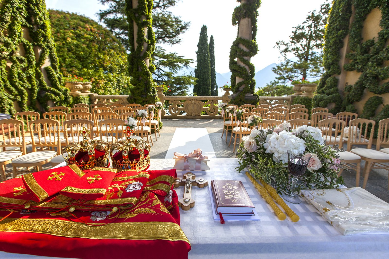 Russian ceremony Villa Balbianello