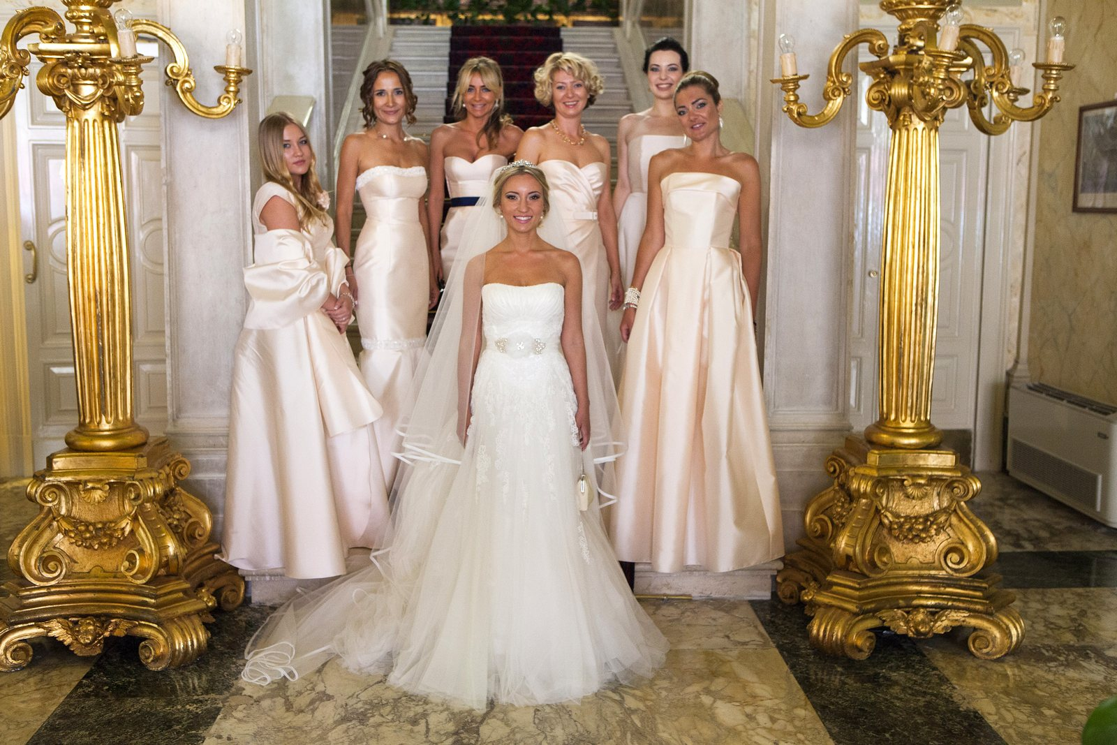 The bride in VIlla Serbelloni