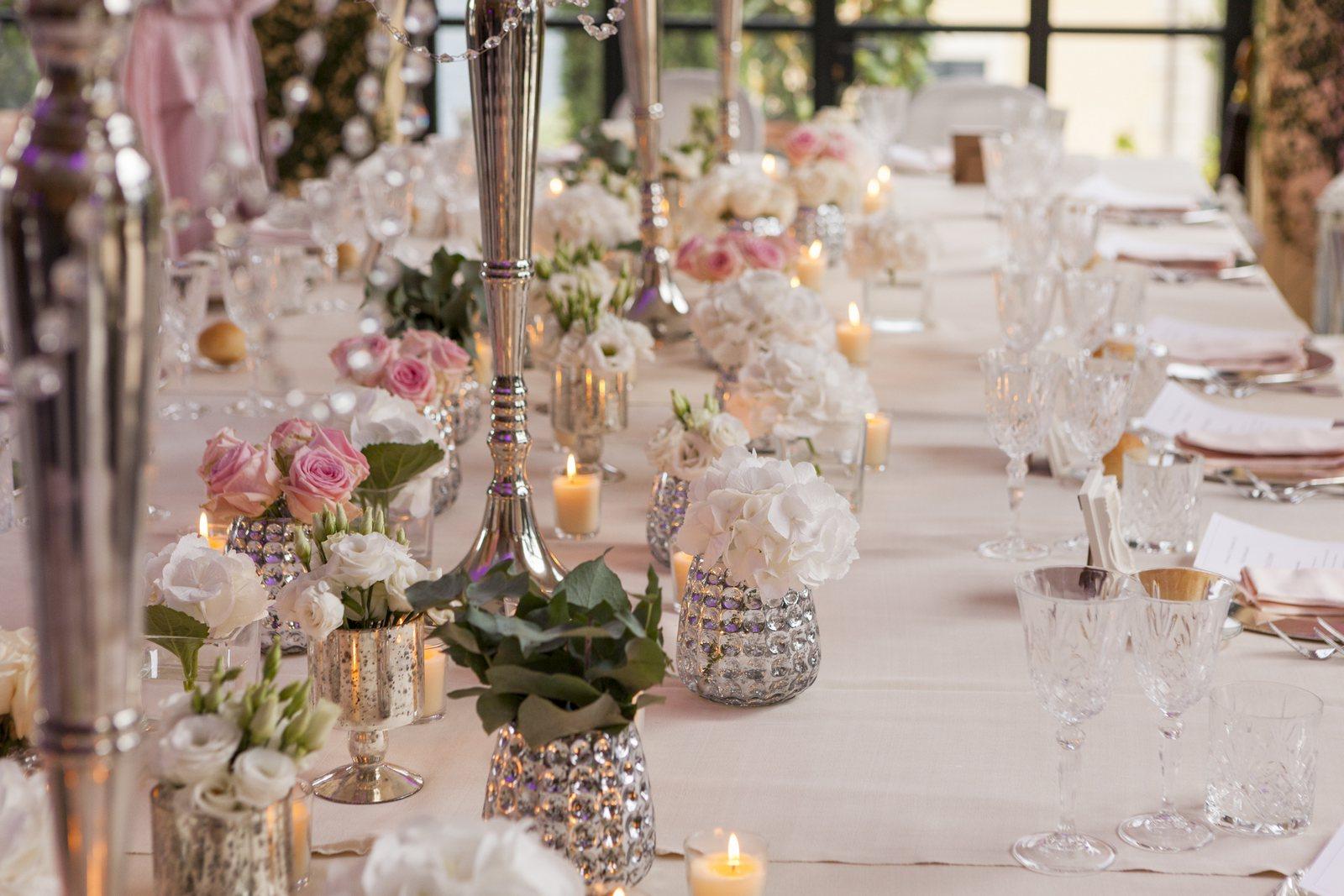 wedding candelabra in villa balbianello