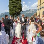 wedding blessing in villa corte del lago