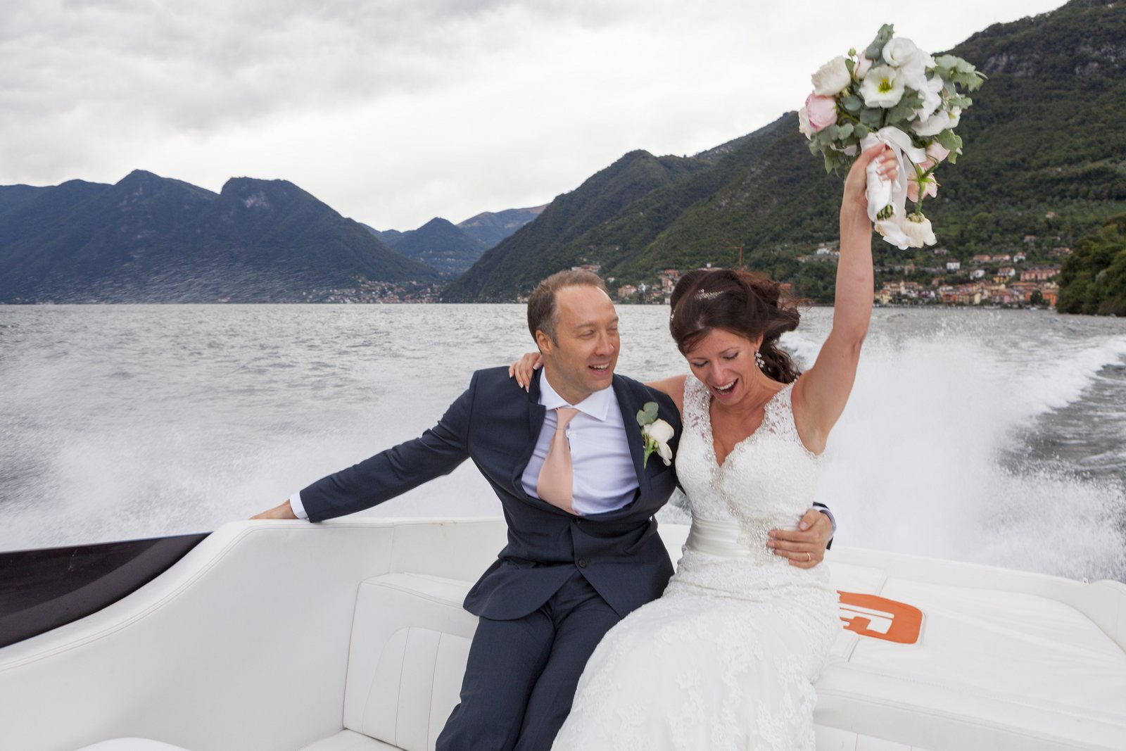 motor boat for your wedding on lake Como
