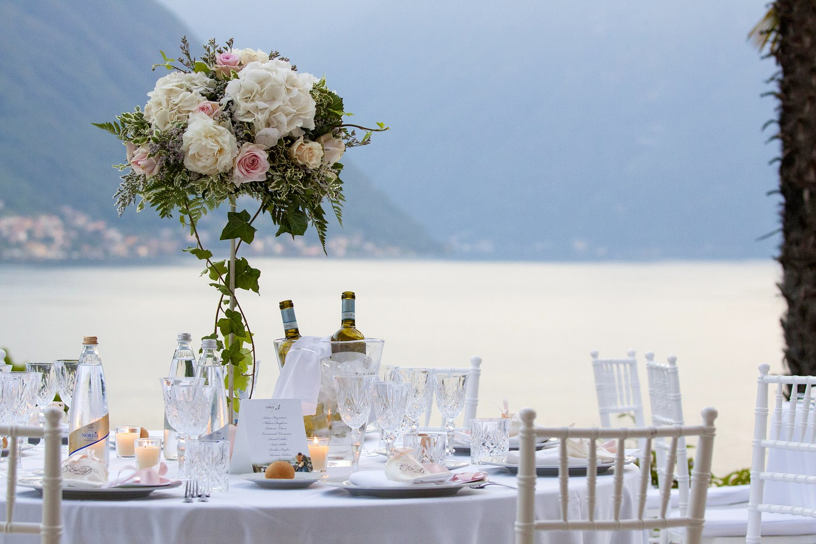 wedding reception Villa Balbianello