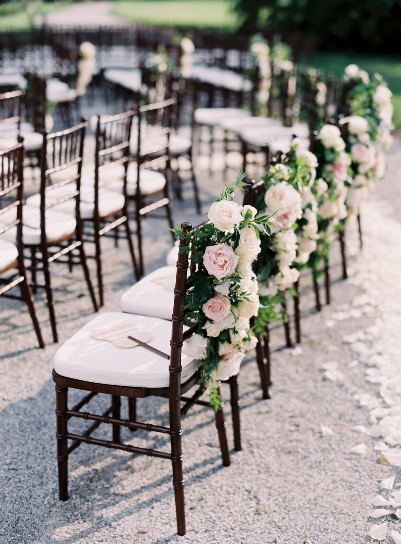 wedding ceremony chairs lake como