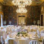 wedding reception dining room villa erba
