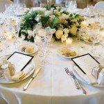 wedding centerpiece in villa erba