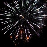 fireworks for wedding in villa erba