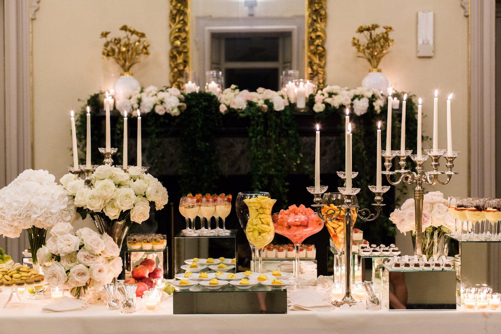 wedidng desert buffet in villa erba