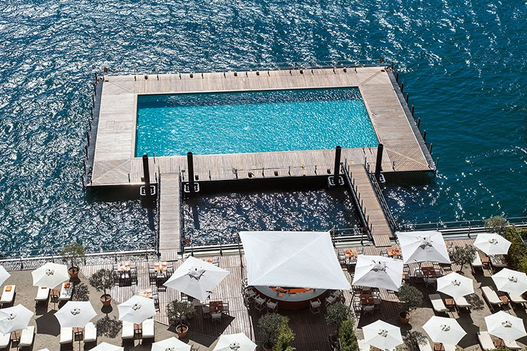pool Flowers Gran Hotel Tremezzo lake Como
