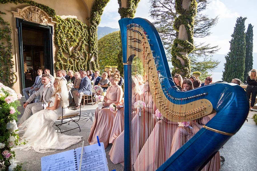 Lauretta and Dominic's Wedding - Arpa musica Lake Como Villa Balbianello