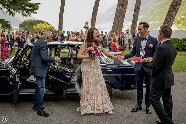Rebecca and Lorenzo married on Lake Como
