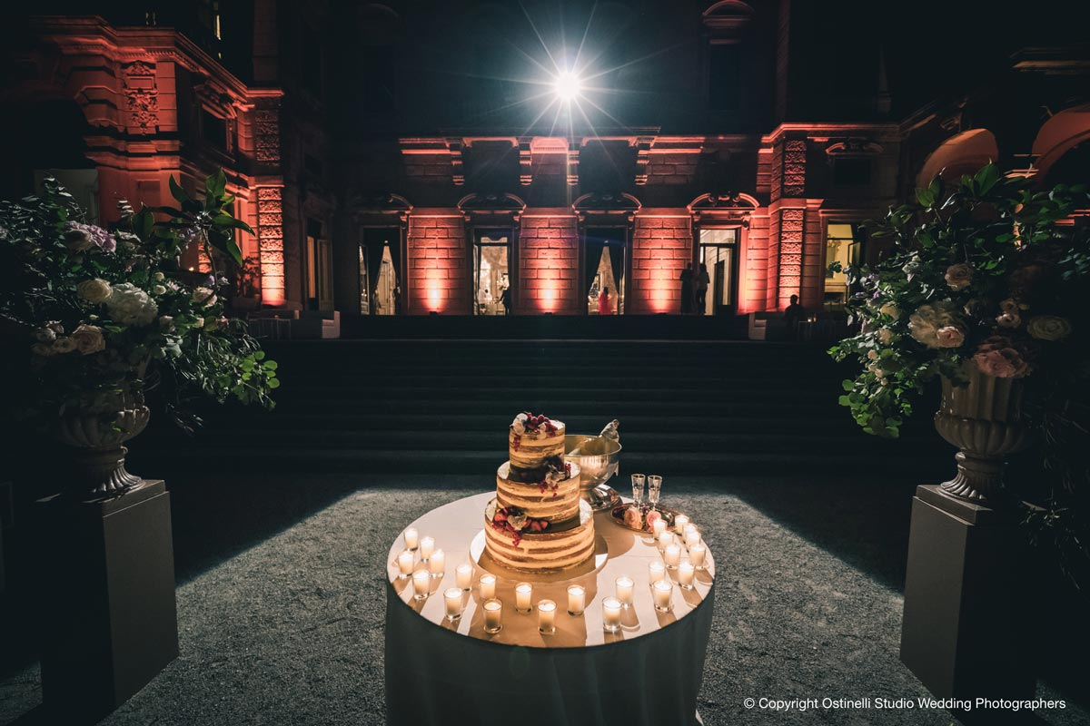 Villa Erba wedding cake for couple from Philippines