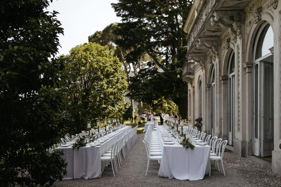 Villa del Grumello dinner wedding Lake Como