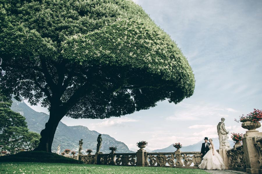 Garden for wedding in Villa Balbianello Lake Como