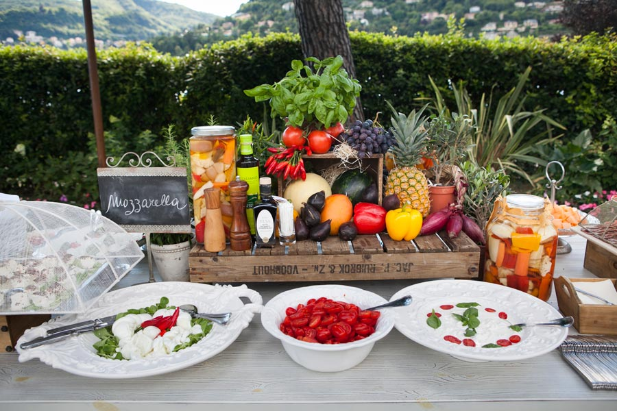 Catering for wedding in Villa Geno Lake Como