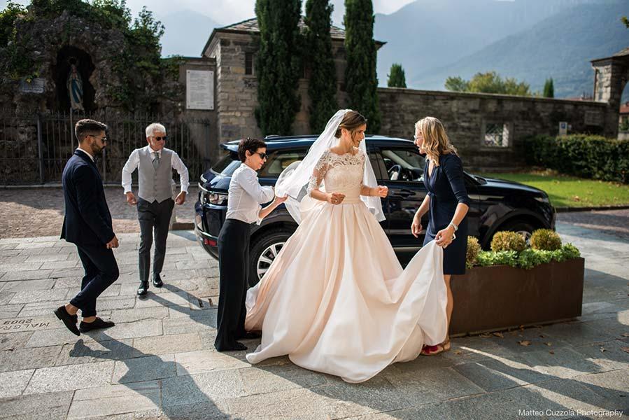 Bride in Villa Erba Lake Como