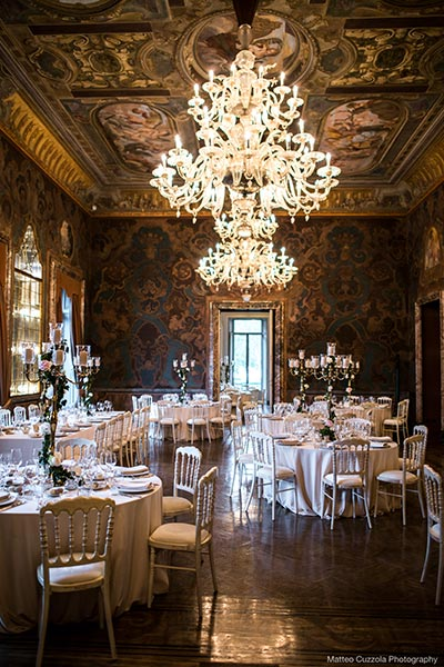 Wedding dinner at Villa Erba