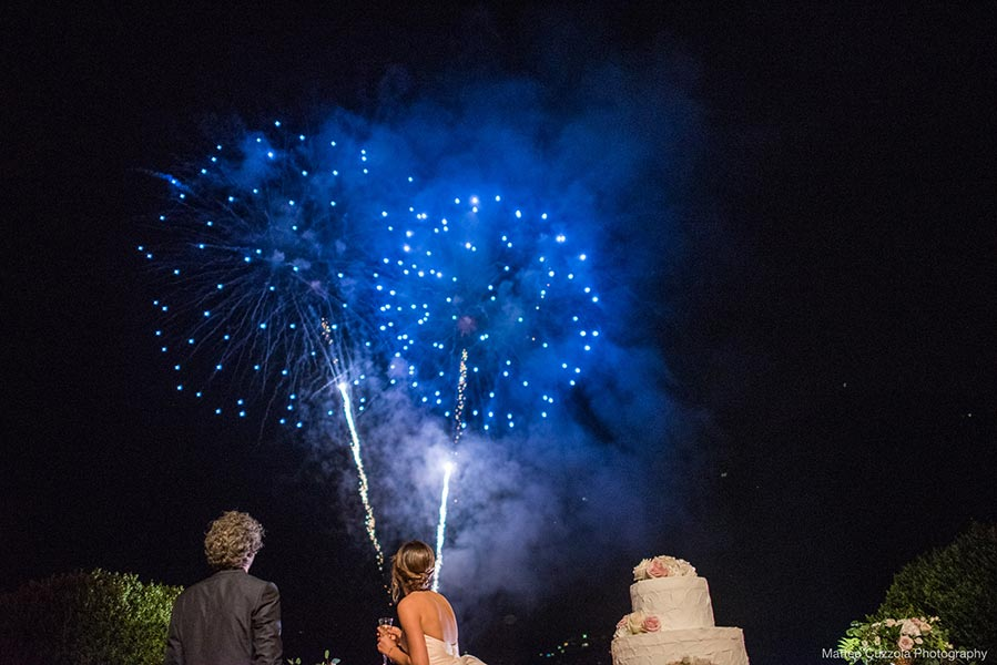 Fireworks for wedding Martina and Andrea