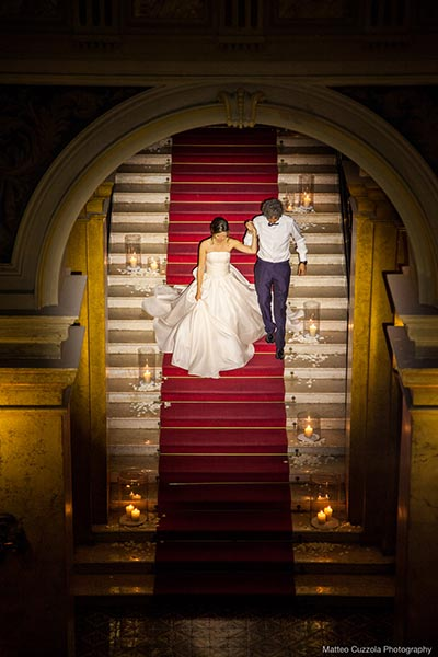 Bride and groom Martina and Andrea